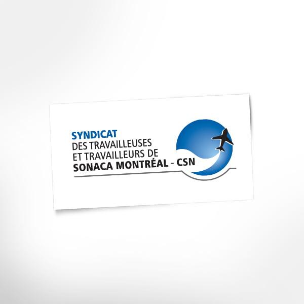Logo Syndicat des travailleuses et des travailleurs de Sonaca Montréal – CSN